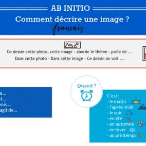 Décrire une image (préparation à l'oral de International Baccalaureate French Ab Initio)
