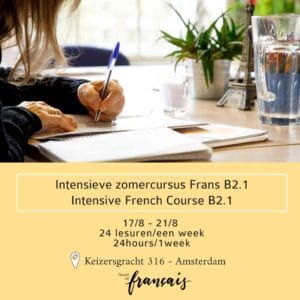 Intensive French Course B2.1  August 17/8 – 21/8 (24hours/1week)