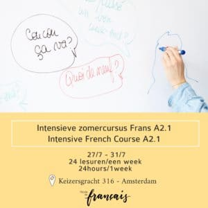 Intensive French course A2.1 July  27/7 – 31/7 (24hours/1week) 27/7 – 31/7/2020
