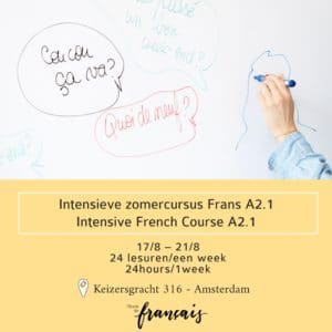 Intensive French Course A2.1  August (24hours/1week) 17/8 – 21/8/2020