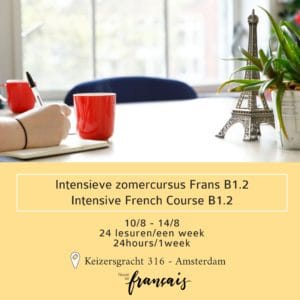 Intensive French course B1.2  August 10/8 – 14/8 (24hours/1week)