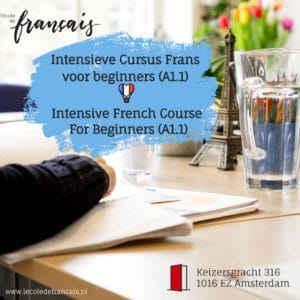 Intensive French Course for beginners A1.1 |February| (22/02-26/02/2021)