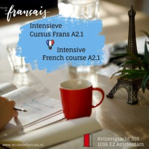 Intensive French Course  A2.1 |March| 18 hours/1 week (08/03 – 12/03/2021)