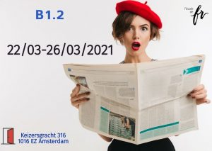 Intensive French Course  B1.2 |March| 18 hours/1 week (22/03 – 26/03/2021)