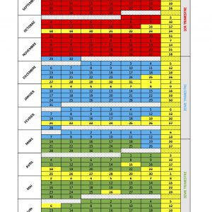 Schoolkalender voor kindercursussen 2021-2022